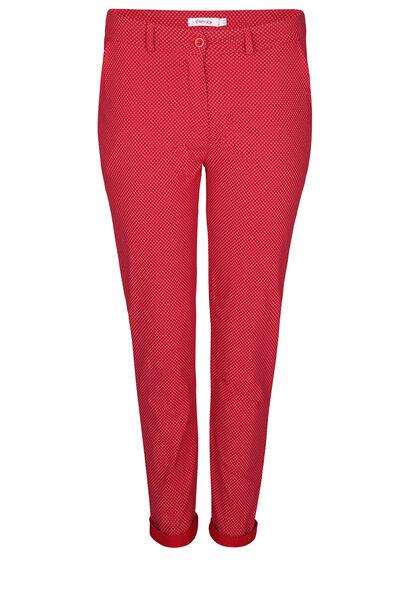 Hose aus bedrucktem Bengaline. - Rot