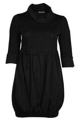Kleid mit weitem Rollkragen, Schwarz