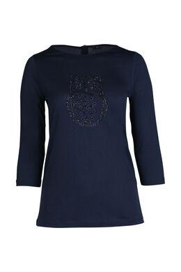 Eulen-T-Shirt, Marine