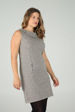 Kleid aus Jacquard-Gewebe, Beige