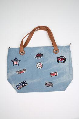 Jeans-Tasche mit Aufsatz, Denim