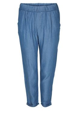 Caprihose aus Lyocell-Jeans, Denim