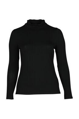 T-Shirt mit Rollkragen, Schwarz