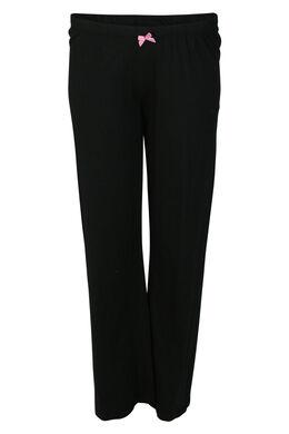 Einfarbige Pyjama-Hose, Schwarz