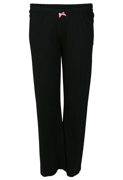 Einfarbige Pyjama-Hose - Schwarz