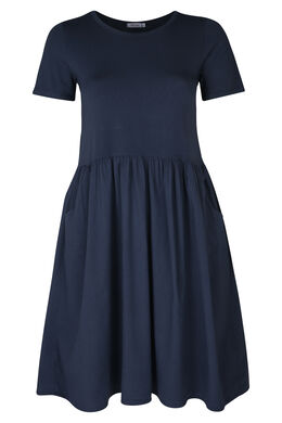 Kleid aus Material-Mix, Marine