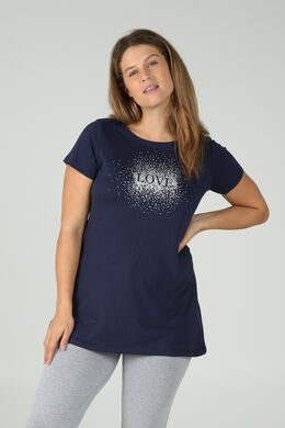 Nachthemd mit Love-Print, Marine