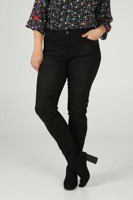 Bestickte Jeans, Schwarz