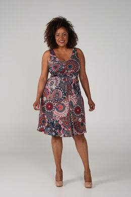 Kleid mit Mandala-Aufdruck, Multicolor