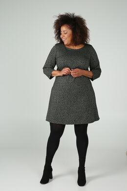 Kleid aus Jacquard--Stoff im Tierfell-Druck, Khaki