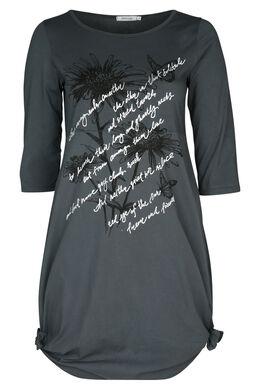 Bedrucktes Kleid, anthrazit
