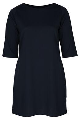 Kleid aus einfarbigem Krepp, Marine