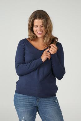 Pullover mit Gitterrückenausschnitt, Indigo