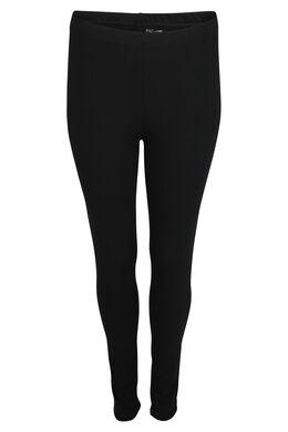 Lange Legging aus Bio-Baumwolle, Schwarz