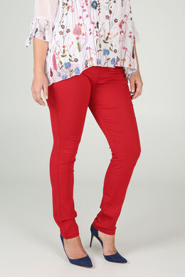 Einfarbige Jeggings, Orange