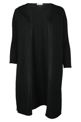 Langer Cardigan aus warmem Strick, Schwarz