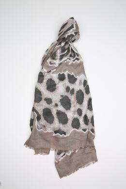 Bedrucktes Tuch aus Viskose, Taupe