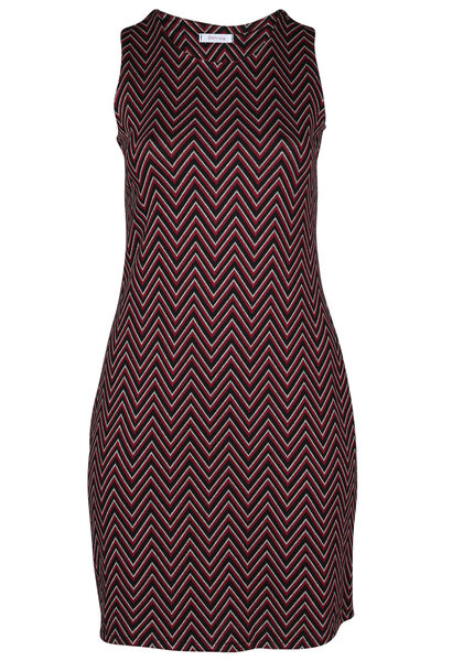 Ärmelloses Kleid aus Jacquard-Strick - Rot