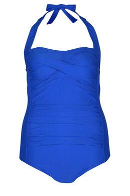 Einfarbiger Badeanzug, Blau Bic