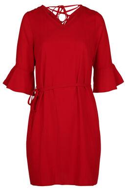 Kleid mit 3/4-Ärmeln und Rüschen, Kupfer