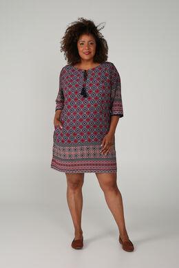 Kleid mit Zellwollabdeckung, Multicolor