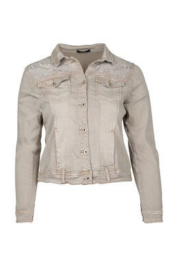 Jeansartige Jacke, Beige
