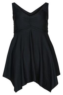 Einfarbiges Badekleid, Schwarz