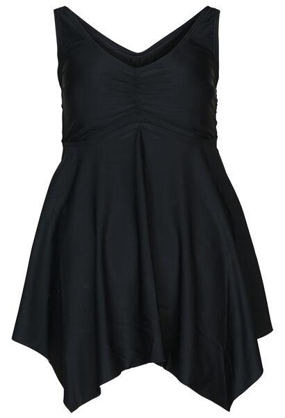 Einfarbiges Badekleid - Schwarz