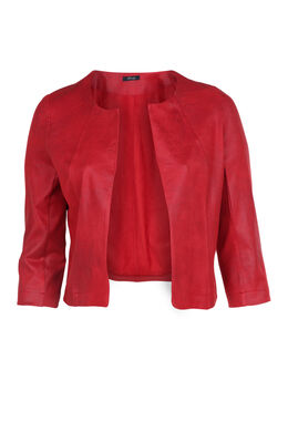 Jacke aus Lederimitat, Rot