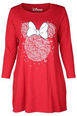 Nachthemd Minnie-Maus-Print, Rot