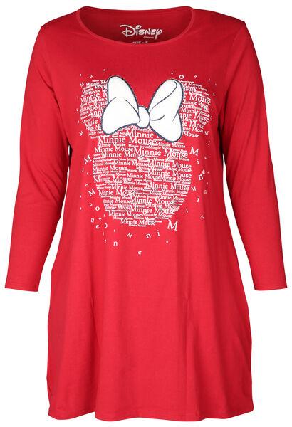 Nachthemd Minnie-Maus-Print - Rot