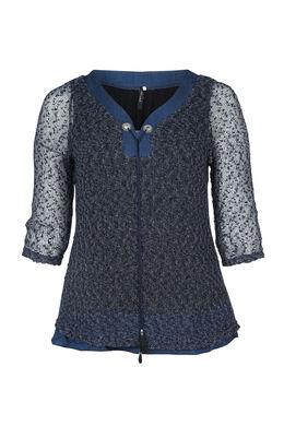 Pullover aus luftigem Maschengewebe, Indigo