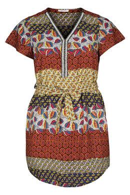 Tunika-Kleid mit Ethno-Print, Multicolor