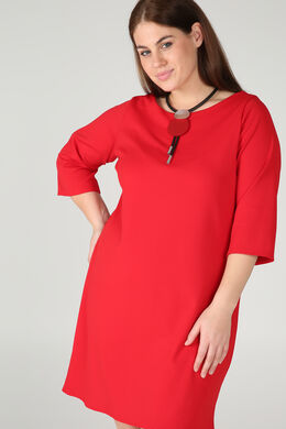 Kleid aus einfarbigem Krepp, Rot