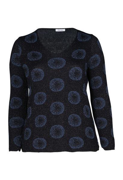 Pullover mit kreisförmigem Print - Marine