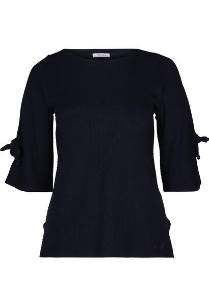 Pullover mit Bindebändern - Marine
