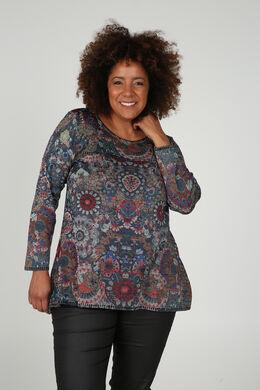 Pullover mit Mandala-Aufdruck, Multicolor