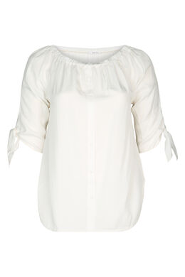 Bluse aus Lyocell, naturfarben