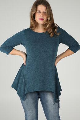 Tunika-T-Shirt aus warmem Material, Türkis dunkel