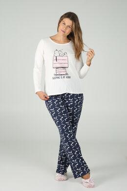 Pyjama mit Snoopy-Print, Marine