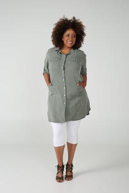 Hemdkleid aus Tencel, Licht Kaki