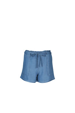 Shorts aus Lyocell im Jeans-Look, Denim