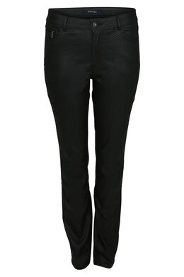 Beschichtete Hose mit 5 Taschen, Schwarz