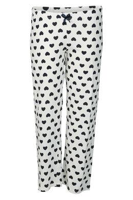 Hose mit Kleine Herzen-Print, Grau