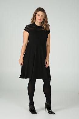 Kleid mit Bubikragen, Schwarz