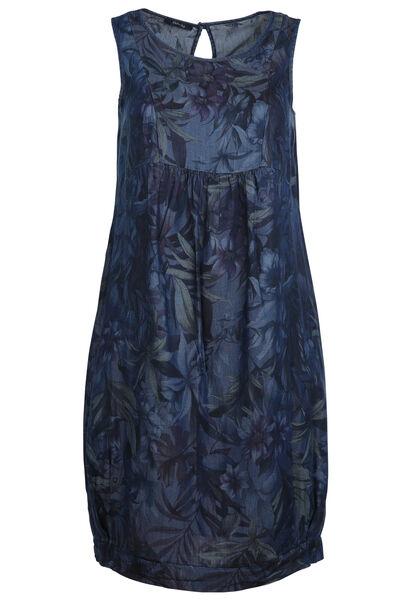 Kleid aus Tencel mit Aufdruck - Denim