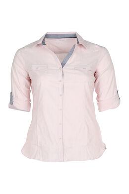 Klassische Bluse mit Knopfleiste, Rosa