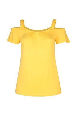 T-Shirt mit elastischen Trägern, ocker
