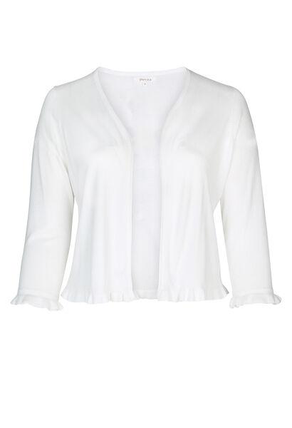 Bolero mit Volants - weiß