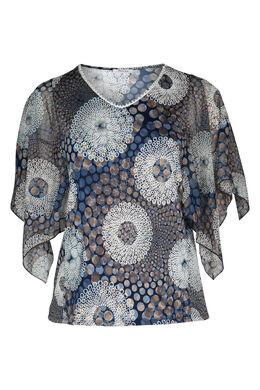 T-Shirt mit Relief-Effekt, Indigo